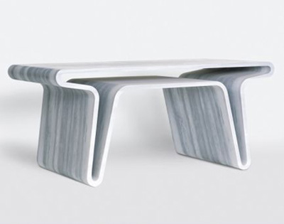 Extruded table